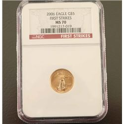2006 Gold $5 Eagle NGC MS70 First Strike