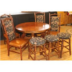 Old Hickory Dining Room Table/Chairs/Stools