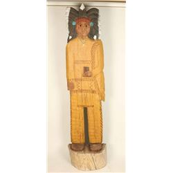 6' Flat Carved Wooden Indian
