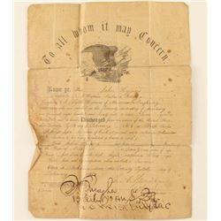 Civil War Discharge Papers