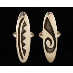 Lot of 2 Hopi Sterling Rings