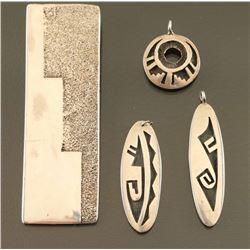 Lot of 4 Hopi Sterling Pendants