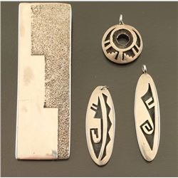 Lot of 4 Hopi Sterling Pendants