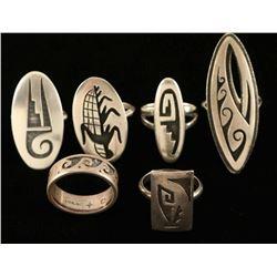 Lot of 6 Hopi Rings