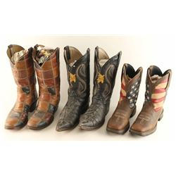 Lot of Men's Leather Cowboy Boots