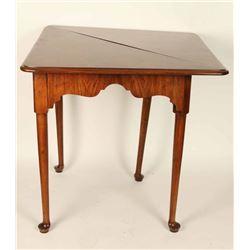 Antique Burled Walnut Drop Leaf Table