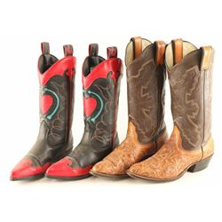(2) Pairs of Ladies' Cowboy Boots
