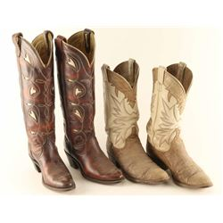 Lot of (2) Pairs of Ladies' Cowboy Boots