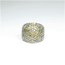 Designer Yellow Sapphire and White Diamond