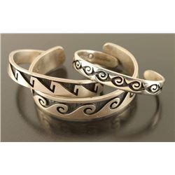 Lot of 3 Sterling Baby Bracelets