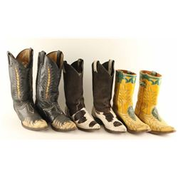 Lot of (3) Pairs of Women's Cowboy Boots