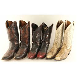 (3) Pairs of Men's Leather Cowboy Boots
