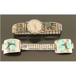 Lot of 2 Turquoise watchbands