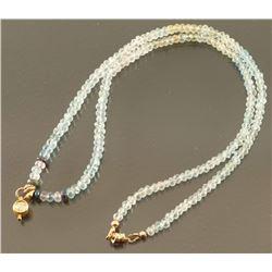Light Sapphire Beaded Necklace