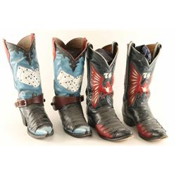 Lot of (2) Men's Leather Cowboy Boots