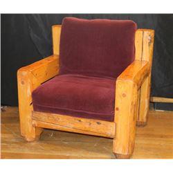 Vintage Log Chair
