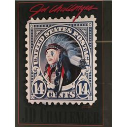 Art Print of 14 Cent Indian Stamp
