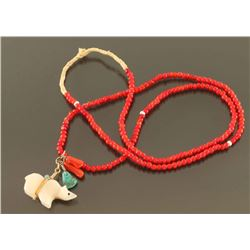 Native Red Beaded Necklace