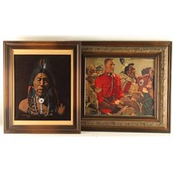Lot of (2) Art Pieces