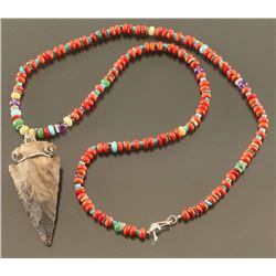 Spiny Oyster Beaded Necklace