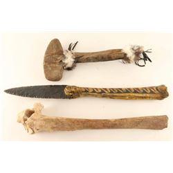 Lot of (2) Bone Weapons