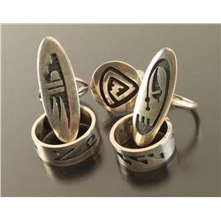 Lot of 5 Hopi Rings