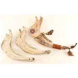 Lot of (3) Jawbones