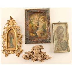Collection of (4) Religious Artifacts