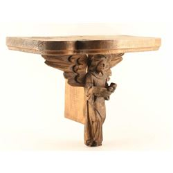 Santos Hand Carved Angel Shelf