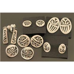 Lot of 6 Pairs of Hopi Earrings