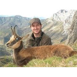 Chamois Hunt in Serbia-- Safari Art