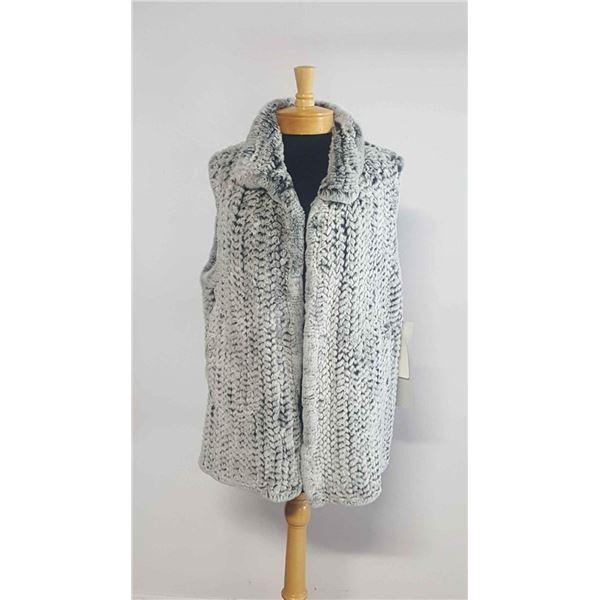 Grey Rex Rabbit Knitted Vest