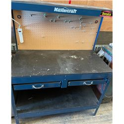 MASTERCRAFT WORKBENCH W/ OUTLETS & PEGBOARD - 4 FT