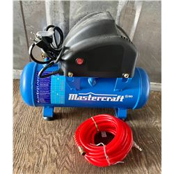MASTERCRAFT 2 GAL AIR COMPRESSOR - AS NEW