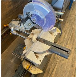 TRADEMASTER COMPOUND MITRE SAW ON FOLDING STAND
