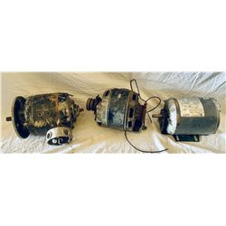 LOT OF 3 ELECTRIC MOTORS
