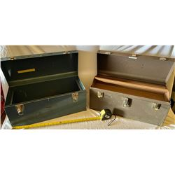 LOT 2 EMPTY METAL TOOL BOXES