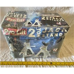 LOT OF 2 TWO TON JACK STANDS - UNOPENED BOX