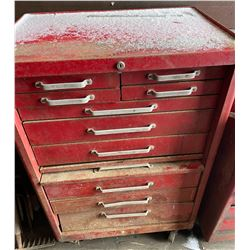 """ROLLING TOOL CABINET W/ CONTENTS - 42"""" H"""