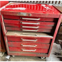 """ROLLING TOOL CHEST W / CONTENTS - 34"""" H"""