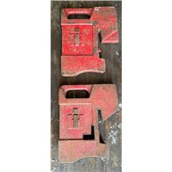 LOT OF 10 X IH TRACTOR WEIGHTS - 70 LBS EACH - ONLY 2 PICTURED