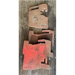 LOT OF 3 MISC TRACTOR WEIGHTS - INCLUDES 1 X AC