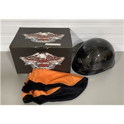 HARLEY-DAVIDSON MOTORCYCLE HELMET - XL AND MOTORCYCLE HAND GRIPS