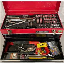 TOOLBOX FULL OF ASSORTED TOOLS
