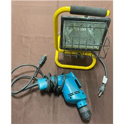 MAKITA 3/8 DRILL & SHOP LIGHT