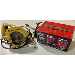 CENTURY BATTERY CHARGER & COMPACT B&D CIRCULAR SAW