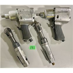 "LOT OF 4 -  2 X MC 1/2"" DRIVE AIR GUNS & TWO 3/8"" DRIVE DEEP CP AIR RATCHETS"