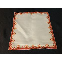 Ukraine Small Square Textile (Orange, Green, Red, and Black)