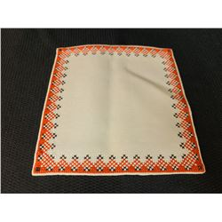 Ukraine Small Square Textile (Orange and Black)