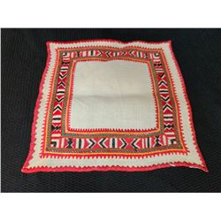 Ukraine Small Square Textile (Black and Orange)